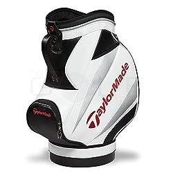 TaylorMade Den Caddie Bag, White/Black/Red