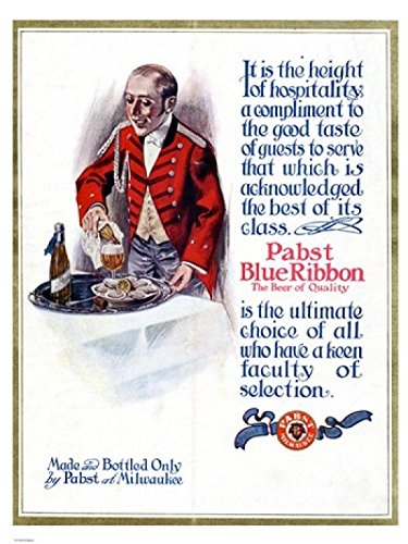 pabst-blue-ribbon-beer-1911-impression-dart-print-4572-x-6096-cm