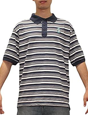 Mens MLB Seattle Mariners Baseball Athletic Short Sleeve Polo Shirt