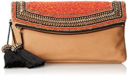Vince Camuto Bessy Clutch, Rich Auburn, One Size