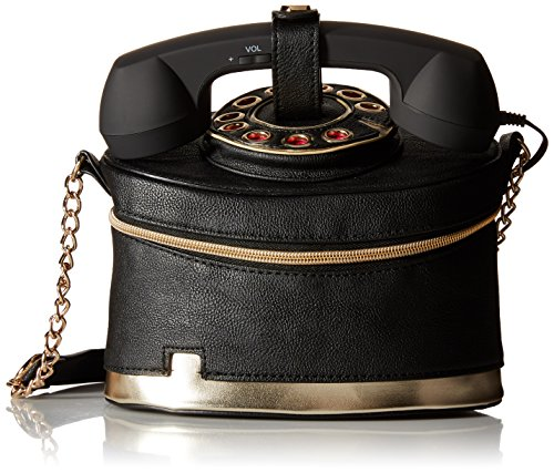 Betsey Johnson Telephone Cross Body Bag, Black, One Size
