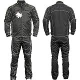 Germanwear 2-teiler Motorradkombi Cordura Textilien Motorradjacke & Motorradhose Schwarz