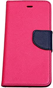 Novo Style Book Style Folio Wallet Case Samsung Galaxy j2 2016 Pink + Wired Selfie Stick No Battery Charging Premium Sturdy Design Best Pocket Sized Selfie Stick