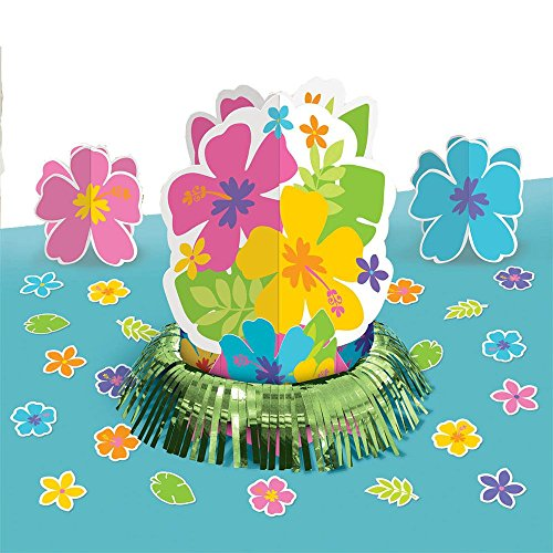 Amscan BB285513 Hibiscus Table Decorating Kit