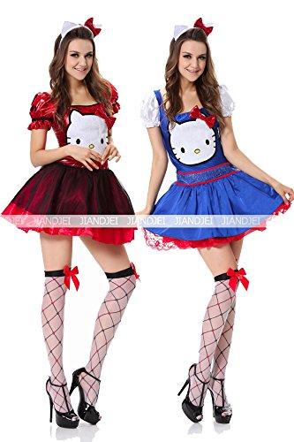 ハローキティ ハロウィン コスプレ 童話 魔女 天使 海賊 悪魔 ドレス 7651 (青)