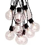 Best Season Party-Kette Party Lights 55 mm, 16-teilig Material Kunststoff, warmweiß LED, circa 4,50 m, Kabel, Outdoor, Vierfarb-Karton, schwarz 476-25