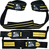 Wrist Wraps + Lifting Straps Bundle (2 Pairs) for Weightlifting, Crossfit, Workout, Gym, Powerlifting, Bodybuilding - Support for both Women & Men, Avoid Injury during Weight Lifting - 1 Year Warranty