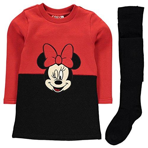 Character Ragazze Pile Set Bambine Calze Calzini Manica Lunga Girocollo Top Disney Minnie 2-3 Yrs