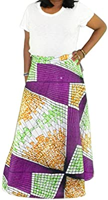 Fashion Island Womens Wrap Around African Clothing Dashiki Skirt Ethnic 1 Size
