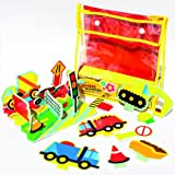 Meadow Kids Diggers and Dumpers Floating Activity Bath Set