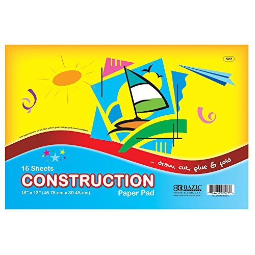 "BAZIC 16 Ct. 18"" X 12"" Construction Paper Pad - 1"