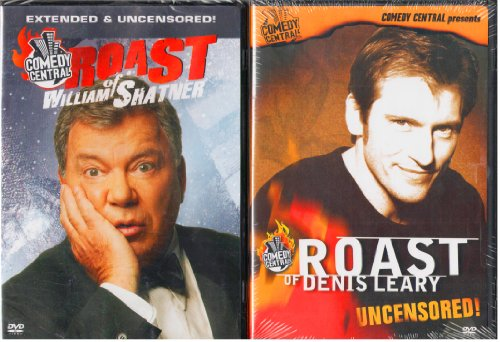 Comedy Central Roast of William Shatner , Comedy Central Roast of Denis Leary : Unrated Editions - 2 Pack Gift Set (Shatner Roast compare prices)