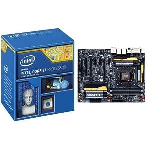 5544a97d79 ( o ) Deals Intel Core i7 4770K Quad Core Desktop Processor 3.5 GHZ 8 MB  Cache BX80646I74770K and Gigabyte GA Z87X UD5H Z87 LGA 1150 2 Way SLI Dual  LAN ATX ...