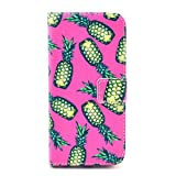 Luv You iPhone 6 Plus Case 5.5 Inch,Yellow Pineapple Print Series Style LV-YO Design Style Beautiful High Quality Luxury Premium PU Leather Feature Flip Magnet Wallet Stand Smart Case Cover Protective With ID Credit Card Holder Slots Cute TPU Case Fit For Apple iPhone Verizon/AT&T/Sprint/T-mobile/International/Unlocked 2014 NEWEST Model(Package:3D Crystal Diamond 3.5mm Dust Plug,Screen Skin Protector And Stylus Touch Pen)