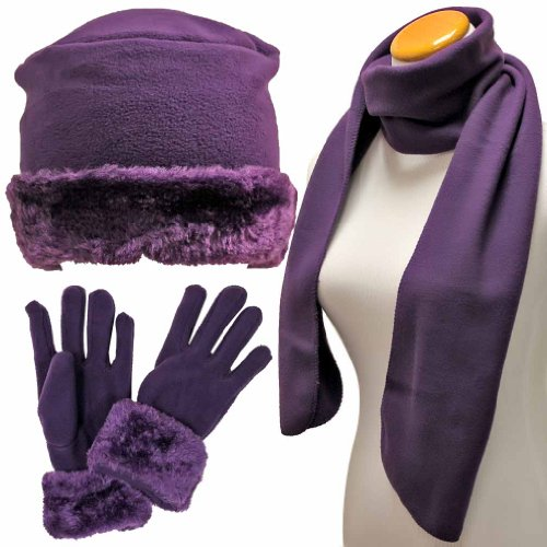 Purple Cloche Fur