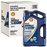 Rotella 550045347-3PK T6 5W-40 1 gal. 3PK. CJ-4 Synthetic Motor Oil, 128. Fluid_Ounces, 3 Pack