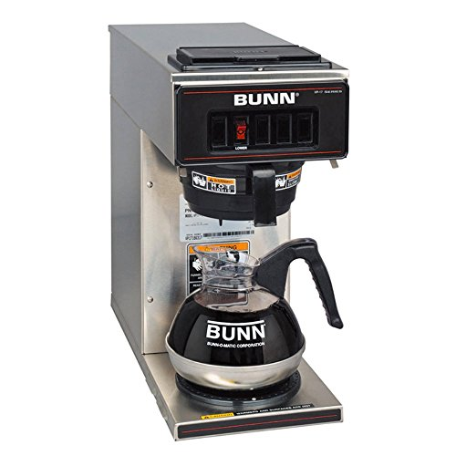 BUNN-VP17-1-SS-Pourover-Coffee-Brewer-with-One-Warmer-Stainless-Steel