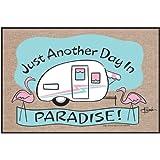 High Cotton Outdoor Mat, Paradise Flamingo