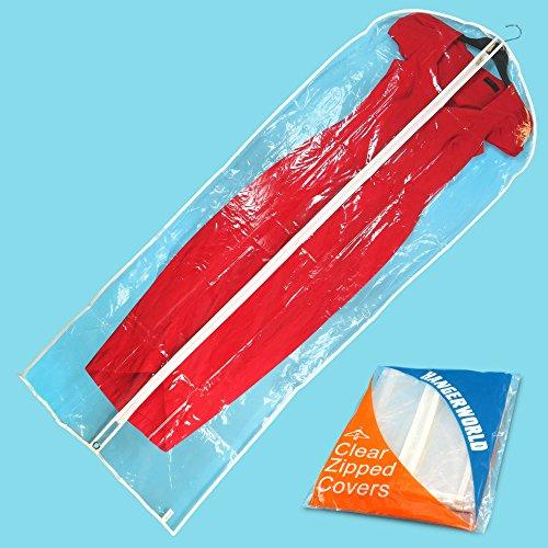 Hangerworld Pack of 6 Clear Zipped Garment Bags - 60