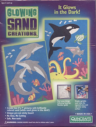 Sea Life Glowing Sand Creations Kit by Quincrafts (Sand Art By Numbers compare prices)