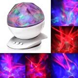 Aurora Borealis Night Light Projector Mood Lighting Lamp Color Changing LED baby room Sleep Aid Light, Mood Light, Atmosphere Lamp, Decorative Light