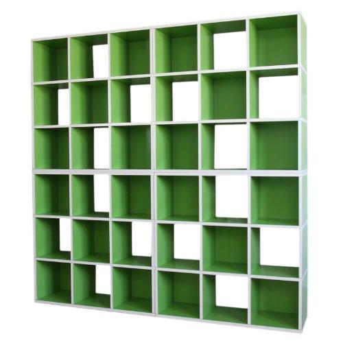 4x Modul-Regal Standregal M73, 186x186x30 cm ~ grün online bestellen