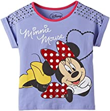 Disney Girls' T-Shirt (MF0DGT531_Lilac_9 - 10 Years)