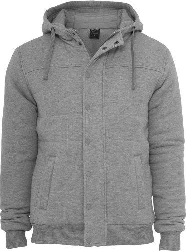 Urban Classics felpa uomo giacca invernale TB 430 Regular Fit grigio Medium