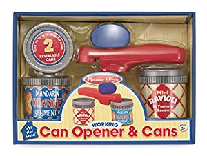 Melissa And Doug Let'S Play House Working Can Opener And Cans 4524 New