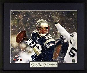 Tom Brady New England Patriots Snow Game 16x20 Photograph (SGA Signature Series)... by Sports Gallery Authenticated