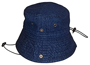 N'Ice Caps Kids Distressed and Washed Denim Cotton Bucket Hat (50cm (19.7