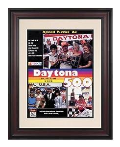 Framed 10 1 2 x 14 27th Annual 1985 Daytona 500 Program Print - Mounted Memories... by Sports Memorabilia