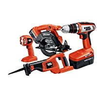 Black & Decker CD418C-2 18-Volt 4-Tool Combo Kit from Black & Decker
