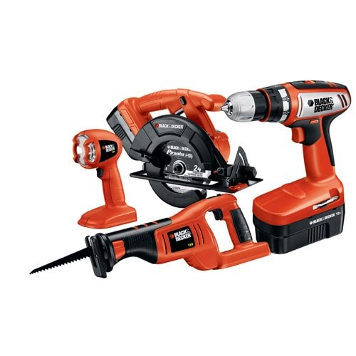 Lowest Price! Black & Decker CD418C-2 18-Volt 4-Tool Combo Kit