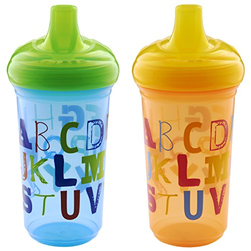 Munchkin Alphabet Sippy Cup, 9 Ounce, 2 Count - 1