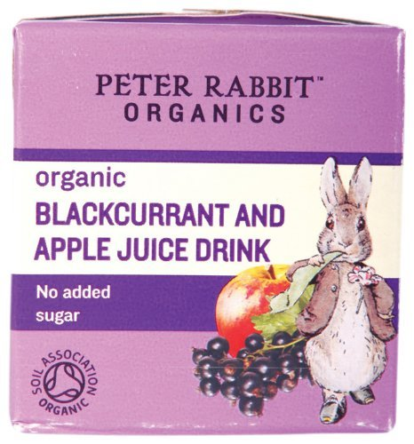 Peter Rabbit Organics From 6 Months Organic Blackcurrant and Apple Juice 150 ml (Pack of 10)