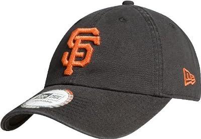MLB San Francisco Giants Cotton Adjustable Cap, Black/ Orange