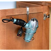 Over The Cabinet Door Chrome Ring Dryer Holder
