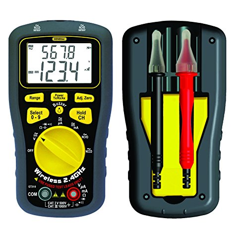 General Tools & Instruments Gt310 Wireless Data Logging Multimeter With Dual 7-Segment Lcd And Ncvd/Nccd