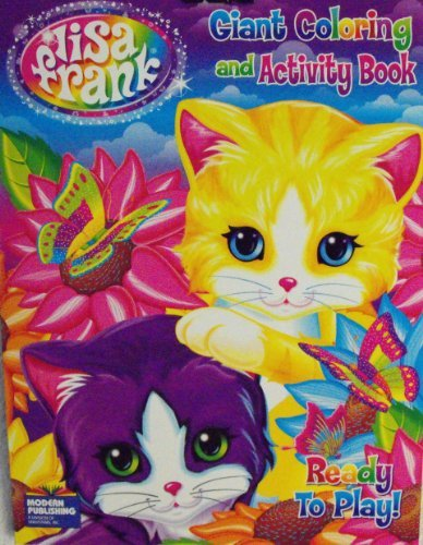 Lisa Frank Coloring & Activity Book ~96 Pg Ready to Play~ Two Kitten Cover - 1