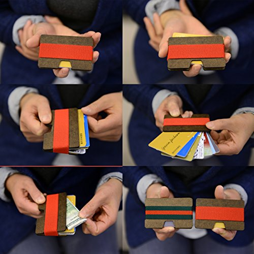 Isooak credit card holder slim carbon fiber wallet for for Craft hobbies for women
