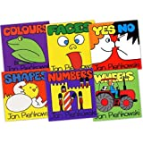 Jan Pienkowski Children 6 Books Collection Pack Set RRP: �29.94 (Colours, Wheels, Faces, Shapes, Numbers, Yes No, (Author of Meg and Mog))by Jan Pienkowski