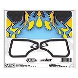 Grahpics Kit:Hyper Flames Carbon Blue :PRO HD Wing UPG3248