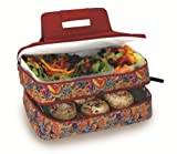 Picnic-Plus-Entertainer-Hot--Cold-Food-Carrier-Jewel-Paisley