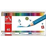 Caran d-Ache Fancolor 12's - Lápiz de color Multi, Rojo, Color blanco