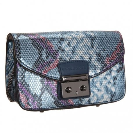David jones-Borsa a tracolla, 19 cm, colore: blu scuro, da donna