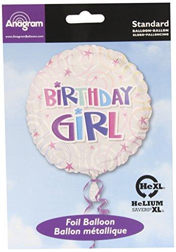 "Birthday Girl Balloon - Flat 18 ""Sterne Birthday Girl Folienballon"