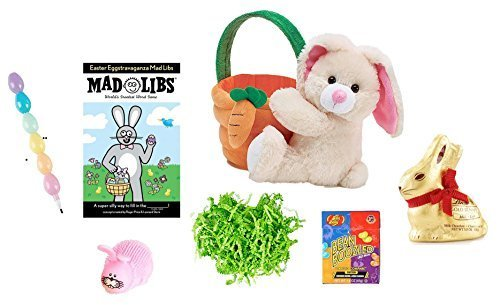 plush-bunny-10-easter-basket-ready-to-gift-mad-libs-lindt-gold-bunny-egg-pencils-puffer-toy-bean-boo
