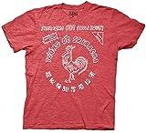 Sriracha Hot Chili Sauce Bottle Label Men's T-shirt L