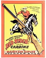 Daisy Red Ryder Cowboy Carbine Air Rifle Retro Vintage Tin Sign
